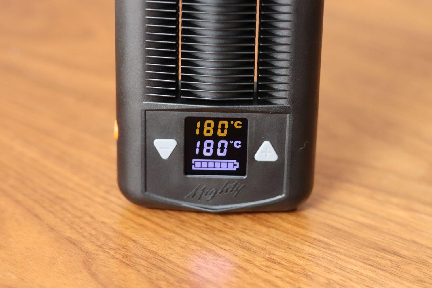 Mighty vaporizer controls