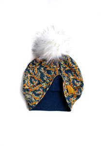 Adult Hat with Snap Pom Winterberry-Child Sizes Also Available
