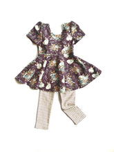 Load image into Gallery viewer, Easter Dress Peplum Top 2T Bunnies Girls Outfit
