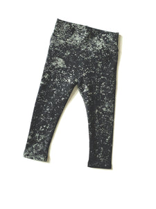 Wide Band Leggings Black/Grey 9-12mo