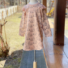 Load image into Gallery viewer, Pink Flutter Sweatshirt Bunny Dress, Easter Dress, Infant, Toddler, Child Sizes 0-3mo to 6T