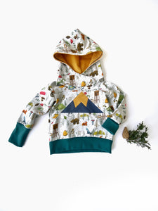 Kids Hoodie sizes 3m-9Y, Camping Sweatshirt, Mountain Sweatshirt, Vermont Kids Hooded Shirt, Woodland Animal Sweatshirt