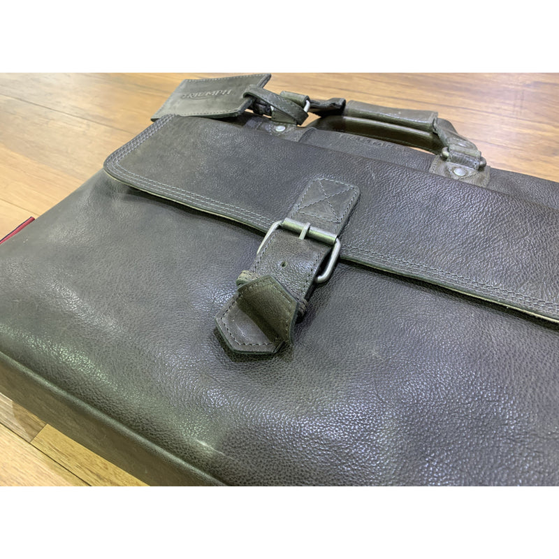 Triumph Raven Brown Leather Laptop Bag