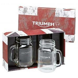 Triumph Jam Jar Glasses