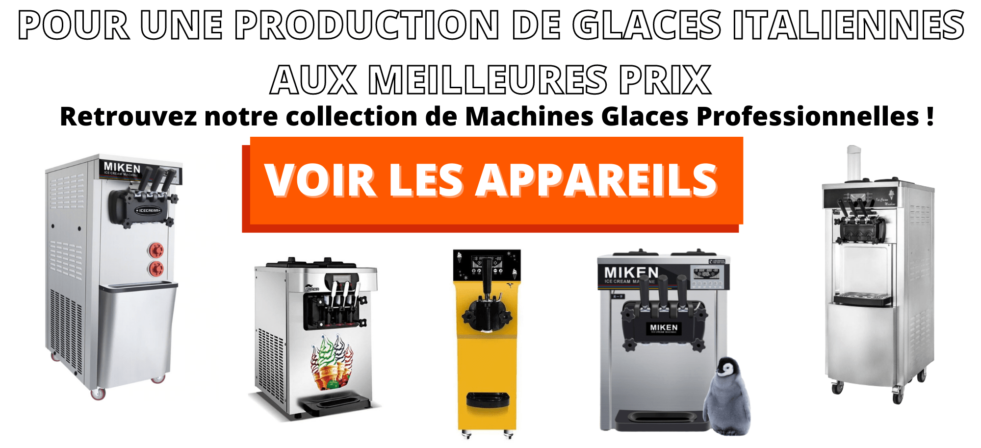 Machine a glace professionnelle