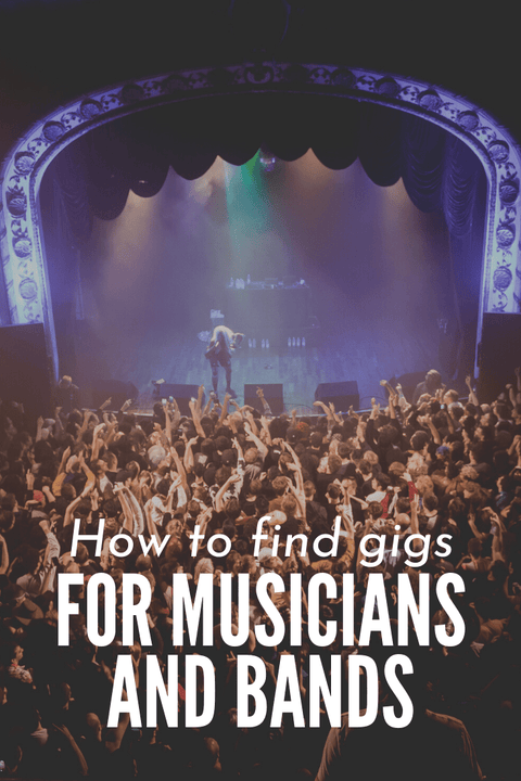 find gigs for musicians and bands