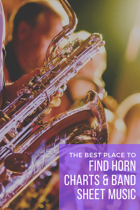 Horn charts and band sheet music