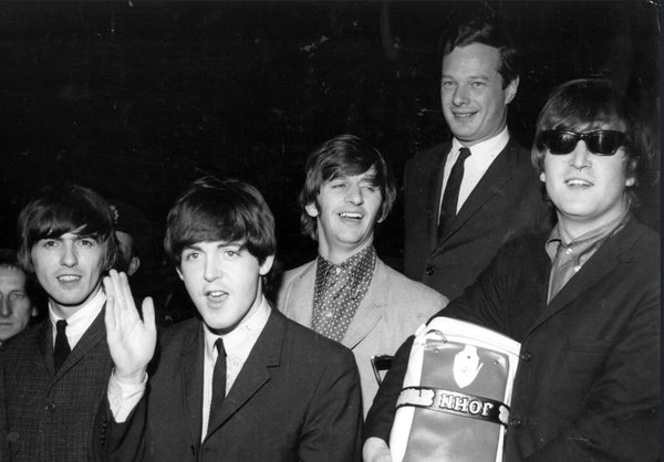 Music artist manager Brian Epstein with the beatles