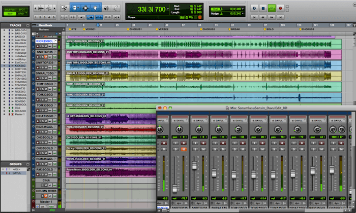 ProTools music recording software for bands