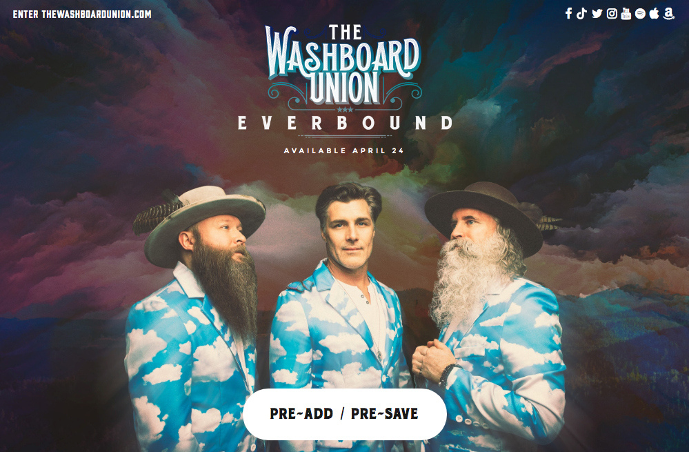 artist press kit example - washboard union