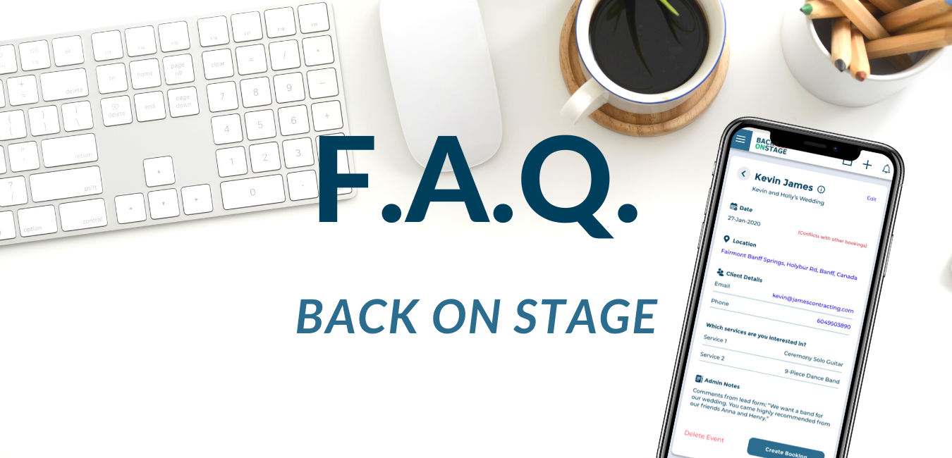 faq frequently asked questions back on stage band app