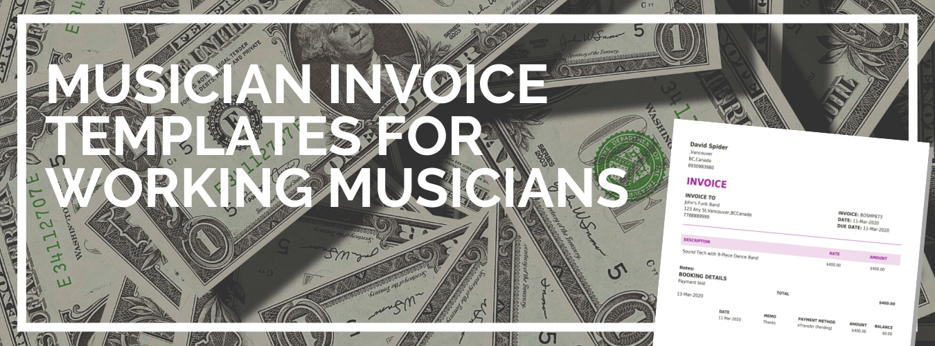 The Best Free Musician Invoice Template Don T Gig Without It Back On Stage