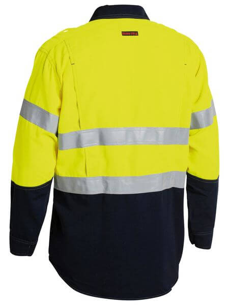 Bisley  Tencate Tecasafe® Plus Taped 2 Tone Hi Vis Fr Vented Long Sleeve Shirt-(BS8082T)