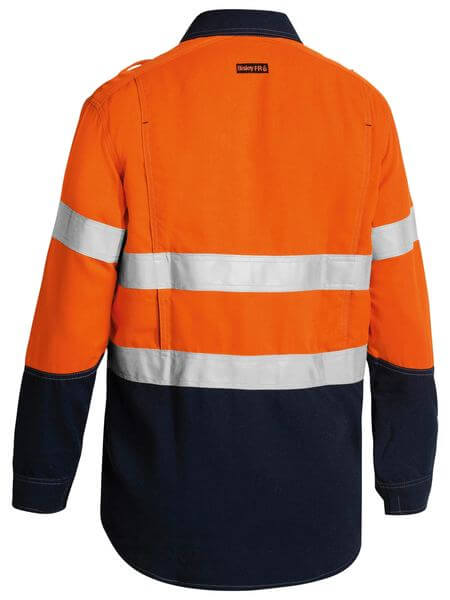 Bisley  Tencate Tecasafe® Plus Taped 2 Tone Hi Vis Fr Light Weight Vented Long Sleeve Shirt-(BS8098T)
