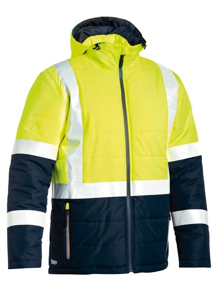 Bisley Taped Two Tone Hi Vis Puffer Jacket(BJ6929HT)