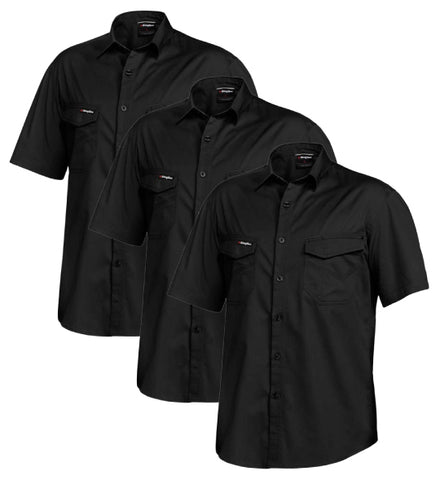 King Gee Tradies Shirt S/S K14355-1 (Pack of 3)