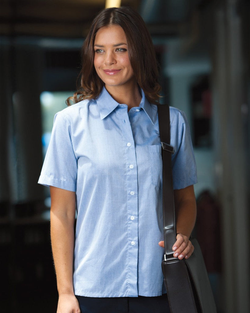 JB's Ladies S/S Fine Chambray Shirt (4LSLS)