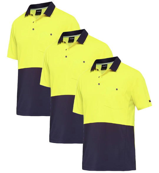 King Gee Work Cool S/S Polo Shirt K54205-1 (Pack of 3)