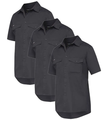 KingGee Workcool 2 Shirt S/s - Cotton Ripstop K14825-1 (Pack of 3)