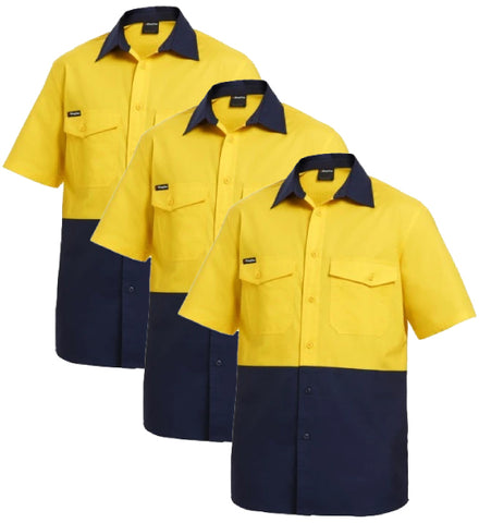 KingGee Workcool 2 Reflective Spliced Shirt S/S K54875-1 (Pack of 3)