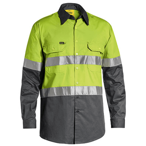 Bisley Men's 3M Taped Cool Hi Vis Light Weight Shirt-(BS6696T)