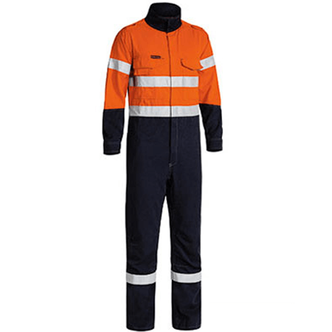Bisley Tencate Tecasafe® Plus Taped 2 Tone Hi Vis Engineered Vented Coverall-(BC8086T)