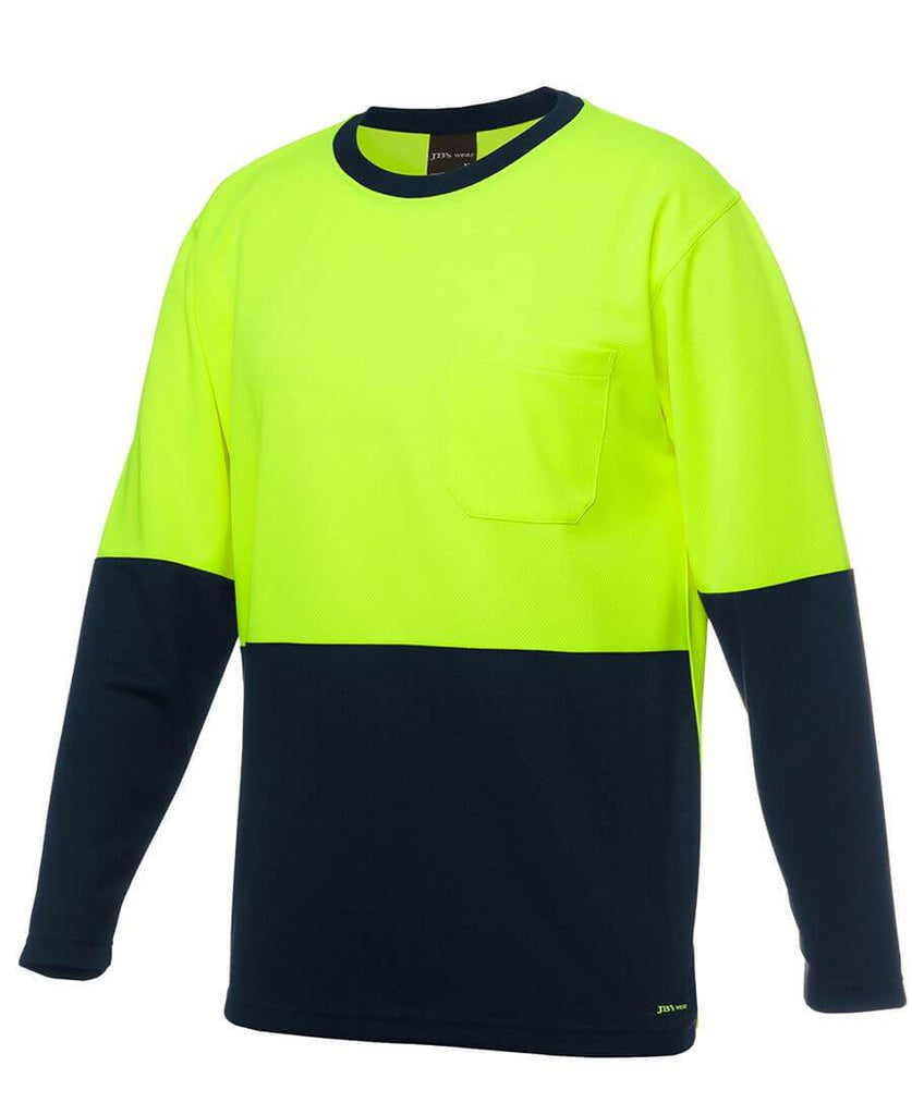 Jb's  Hi Vis Long Sleeve Traditional T-Shirt (6HVTL)