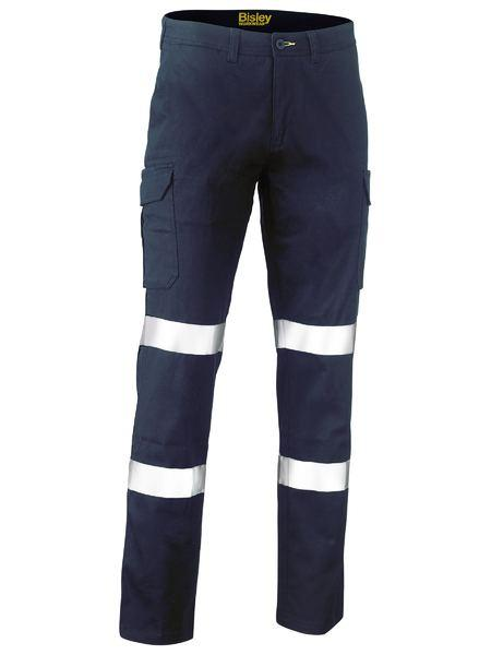 Bisley Taped Biomotion Stretch Cotton Drill Cargo Pants (BPC6008T)