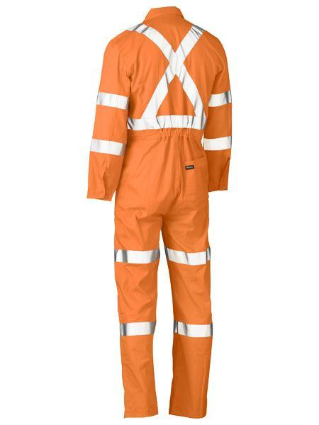 Bisley X Taped Hi Vis Lightweight Drill Rail Coverall (BC6316XT)