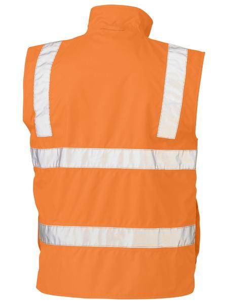 Bisley Taped Hi Vis Rail Wet Weather Vest (BV0364T)