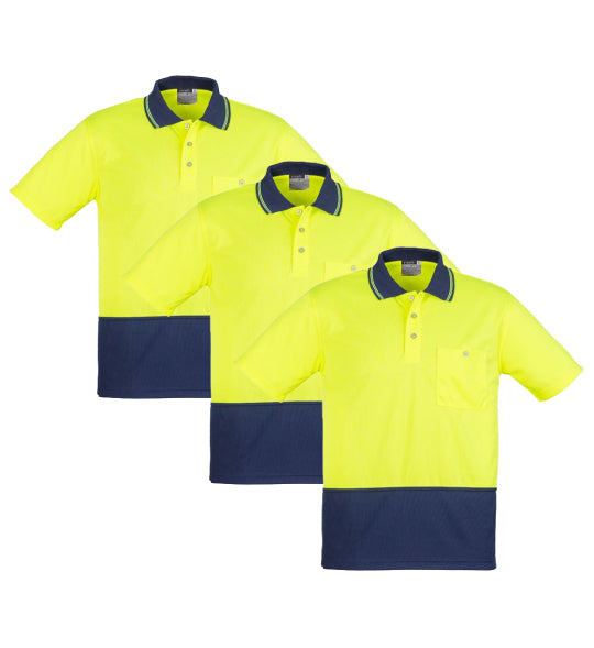 Syzmik Unisex Day Only Basic Polo - Short Sleeve - ZH231-1 (Pack of 3)