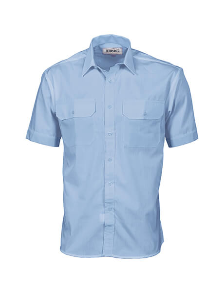 DNC Polyester Cotton S/S Work Shirt (3211)