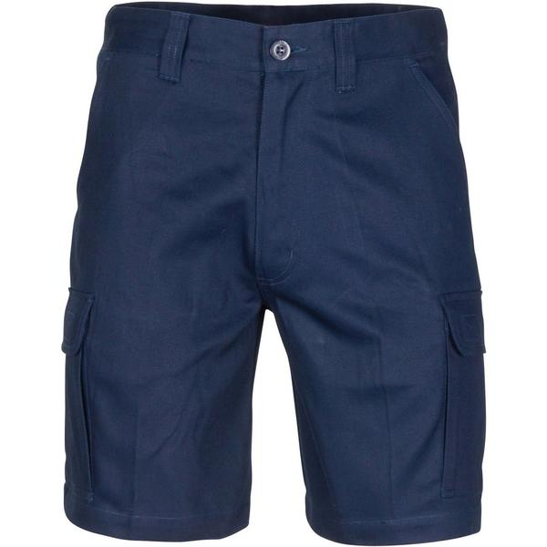 DNC Middle Weight Cotton Double Slant Cargo Shorts - With Shorter Leg Length (3358)