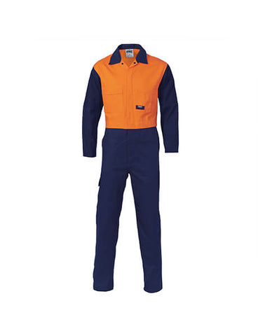 DNC Patron Saint Flame Retardant Two Tone Drill Overall (3425)