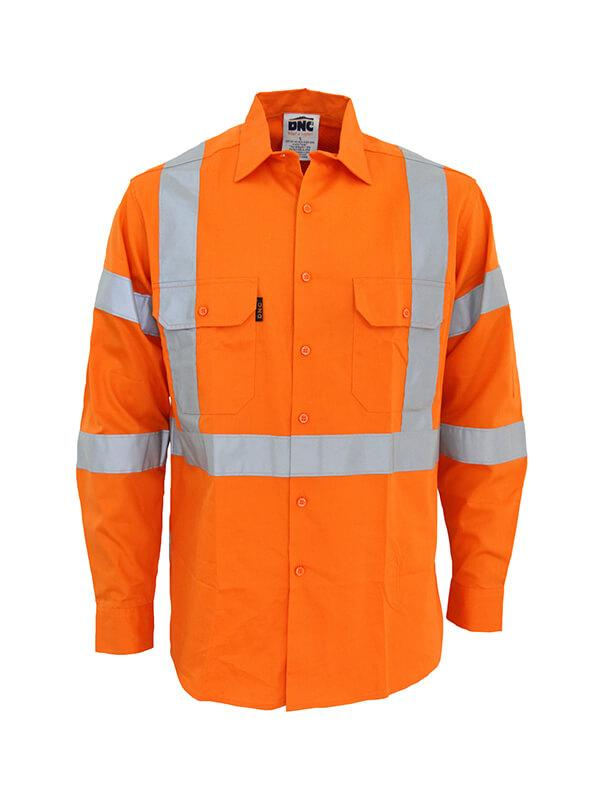 "DNC Hi-Vis 3 way vented ""X"" back & Biomotion taped shirt (3545)"