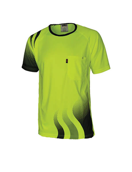 DNC Wave Hi Vis Sublimate Tee (3562)