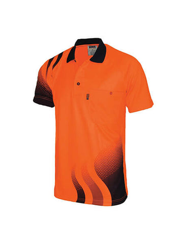 DNC Wave Hi Vis Sublimated Polo (3563)