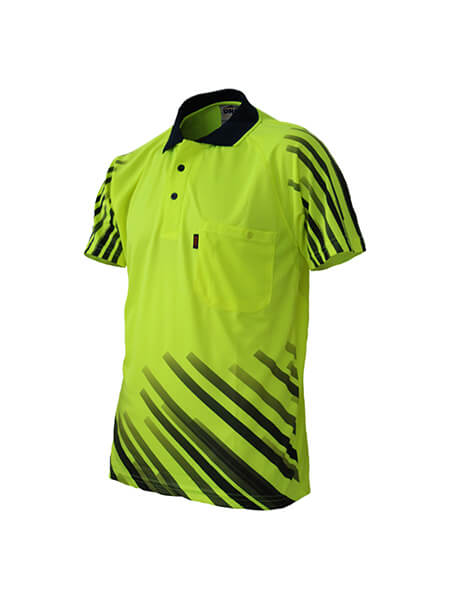 DNC Hivis Sublimated Full Stripe Polo (3566)