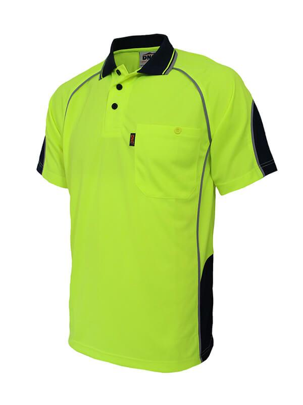 Dnc Hi-Vis Semicircle-piping Polo (3569)