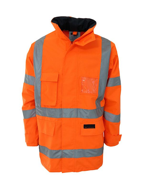 Dnc HiVis Breathable Rain Jacket Biomotion tape (3571)