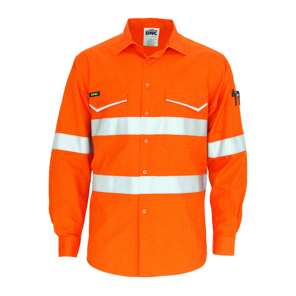 DNC RipStop Cotton Cool Shirt with CSR Reflective Tape, L/S (3590)