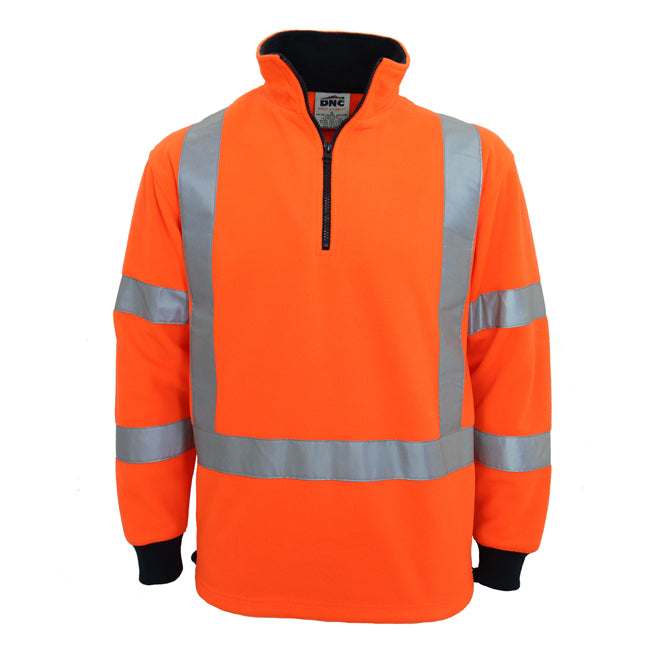 "DNC Hivis ""X"" back & Biomotion taped Polar Fleece (3730)"