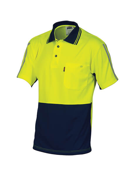 DNC HiVis Cool Breathe Stripe Polo - Short Sleeve (3755)