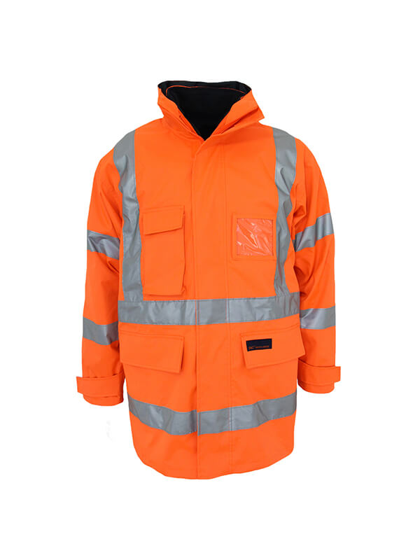 "Dnc HiVis ""X"" back ""6 in 1"" Rain jacket Biomotion tape (3797)"