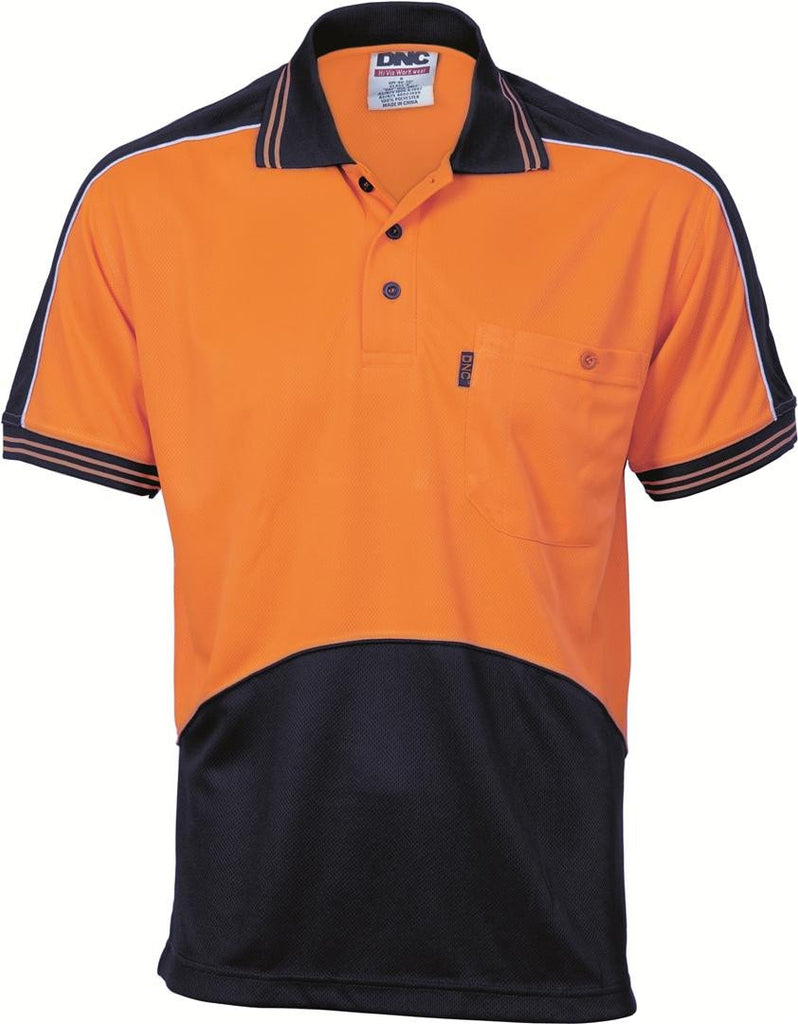DNC HiVis Cool Breathe Panel Polo Shirt - Short Sleeve (3891)