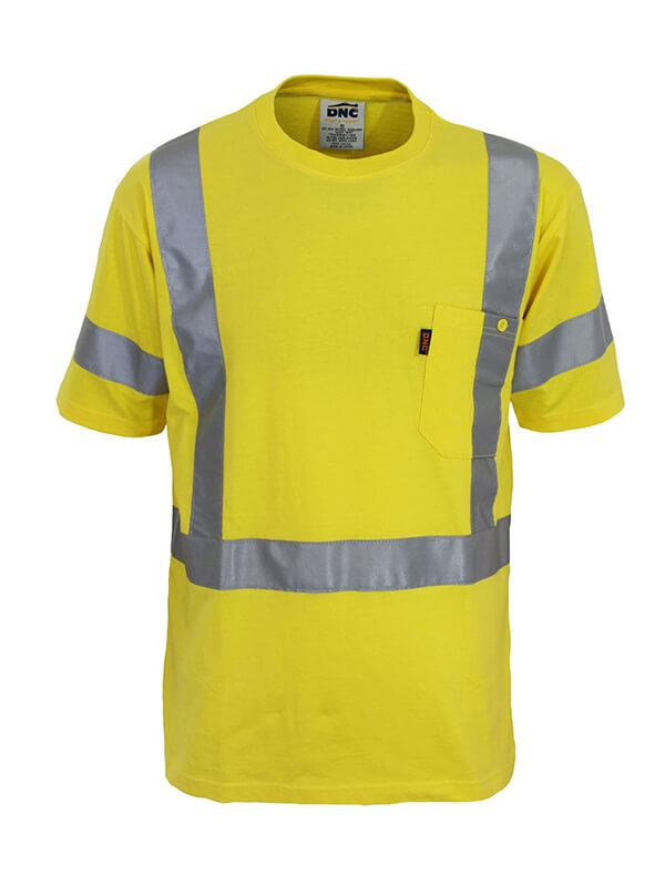 DNC Hi Vis Cotton Taped Tee Short Sleeve (3917)