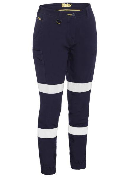 Bisley Women's Taped Cotton Cargo Cuffed Pants -(BPL6028T)