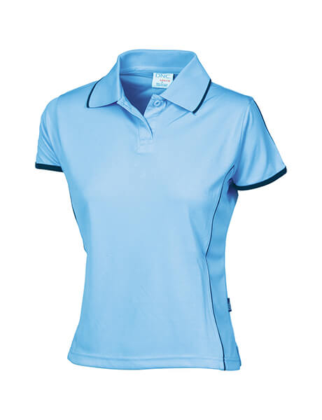 DNC Ladies Cool-Breathe Piping Polo (5225)