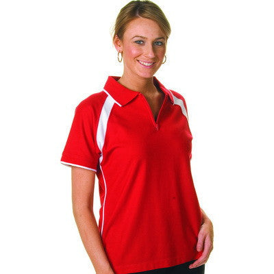DNC Ladies Poly/Cotton Contrast Raglan Panel Polo (5246)