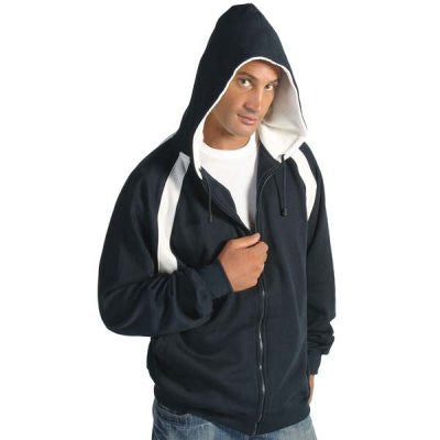 DNC Mens Contrast Panel Fleecy Top with Hood (5421)